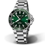 ORIS 豪利時 Aquis時間之海300米潛水錶 0173377324157-0782105PEB 綠