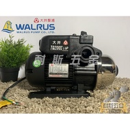 【耐斯五金】優惠『抗菌 環保 最新款』大井 WALRUS TQ200B 1/4HP 電子穩壓加壓機『TQ200 再升級』