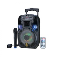 Avcrowns CH-8112 Bluetooth Trolley Speaker 600W With Mic Black/Remote control