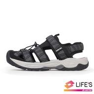 【LOTTO】男 護趾排水運動涼鞋(黑-LT0AMS1650)