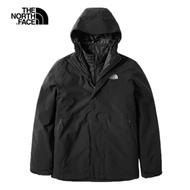 The North Face北面男款黑色防水保暖戶外三合一外套|3VSJKX7