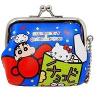 大賀屋 日貨 Hello Kitty 迷你包 錢包 小錢包  錢包 零錢包 包 皮包 蠟筆小新 正版 J00018503