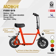 Mobot Official FIIDO Q1S UL2272 Certified Electric Scooter ✅E Scooter FIIDO Escooter ✅LTA Compliant