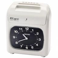 天野AMANO BX-1800 六欄位單色打卡鐘
