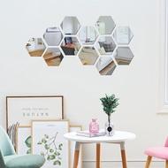 Guninco Hexagonal Mirror Hexagonal Wall Mirror Wall Stickers Wall Decoration Makeup