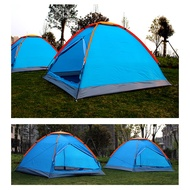 Outdoor Camping Tent Single Layer 3-4 Person Camp Mountain Camping Tent Aa12043 - Blue
