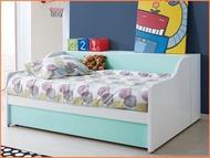 *實木之家*雙色單人床(抽屜式+邊櫃)-3.5尺#S9單人床系列351-4~房間組~實木床台 床架 兒童床組