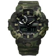 G-SHOCK CASIO 迷彩風雙顯運動橡膠手錶-軍綠色 GA-700CM-3A 52mm
