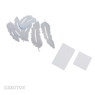 [KESOTO2] 3D Mirror Wall Stickers Feather Acrylic Dressing Mirror Stickers
