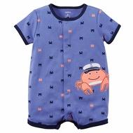 Carter's 美國童裝 連身衣 短褲 短袖 藍色小螃蟹 3M 6M 9M 12M 18M 24M