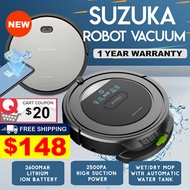 (▼44%) [Introductory Offer] Qoo10 Exclusive Suzuka 5-in 1 Vacuum and Mopping Robot (7000+ Reviews)