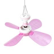 4 Blades Fan Portable Cooler Fan 8W 12V DC Mini Ceiling Fan