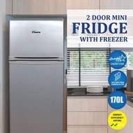POWERPAC 170L 2 DOOR MINI FRIDGE WITH FREEZER (PPF170)