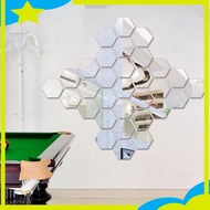 Hexagon Glass Stickers / Wall Mirrors Pasted Acrylic Decoration 3d Mirror Sticker Mirror Stickers