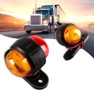 ขายร้อน2PcsสีแดงAmberด้านข้างMarkerไฟLEDหลอดไฟรถบรรทุกรถพ่วงVan Bus 12V