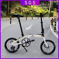 🔥in Stock🔥Gaotelu Foldable Bicycle 20-inch 9-speed Variable Speed 451 Disc Brake Bicycle Aluminum Alloy Frame Ultralight Folding Bicycle