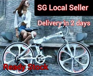 (FREE INSTALLATION / FREE ACCESSORIES/ READY STOCK) Begasso Foldable mountain Bike 26 inch/ 21 Speed bicycle