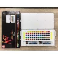 藝城美術~日本Sakura Koi watercolor 櫻花塊狀水彩60色 附自來水彩筆