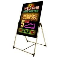 巨酷螢光板廣告板led電子發光黑板閃光夜光手寫廣告牌支架式60 80WD  初语生活馆
