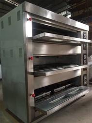 Heavy duty 3 deck 12 trays gas baking oven