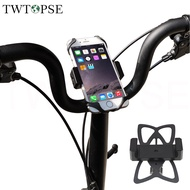 TWTOPSE Bicycle Phone Holder For Brompton Folding Bike Phone Mount 3SIXTY PIKES Handlebar Handlepost Alloy Stand Support Clip Gopro Accessory