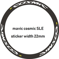 mavic cosmic SLE 公路車 輪貼組 22mm