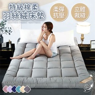 【Effect】親膚特級棉柔羽絲絨10CM加厚日式床墊(單人/雙人/雙人加大均一價)-多色任選