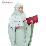 Siti Khadijah Telekung Deco Lavender - Aqua Grey [Free Exclusive Box + Pouch Bag Maroon]