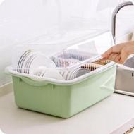 碗架廚房瀝水碗架帶蓋塑膠碗櫃碗筷餐具收納盒放碗碟架滴水碗盤置物架
