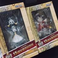 海賊王🏴☠️ 日本海外限定 15週年獨家紀念版 站立Q版公仔 正版 全新未拆封公仔 航海王 魯夫 布魯克 全家