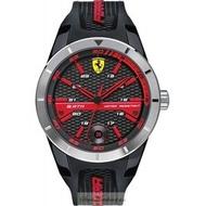 2016新款法拉利手錶時尚精品錶REDREV T款,編號:830253,黑色錶面黑色矽膠錶帶款