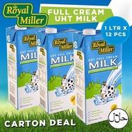 ★Carton Deal★ Royal Miller UHT Full Cream Milk 1Ltr x 12!