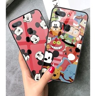 Disney Mickey OPPO F9 F7 F5 F11PRO A3S A7 F3 r15pro r17pro Tempered Glass Case