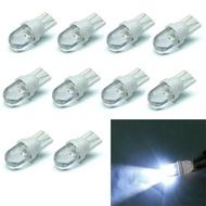 10ชิ้น/เซ็ต T10สีขาว12V LED 194 168 158 5W 6500K ด้านข้างลิ่มรถยนต์ไฟแผงหน้าปัดหมวกฟางไฟข้างไฟอ่านหนังสือ