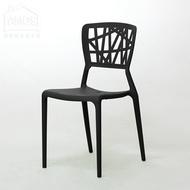 餐椅 書桌椅 塑膠椅【YAN051】台灣製幾何造型一體成形塑膠餐椅 Amos