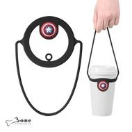 【Bone】Cup Tie 環保杯綁 飲料提袋 - 美國隊長(環保矽膠飲料袋 漫威授權)
