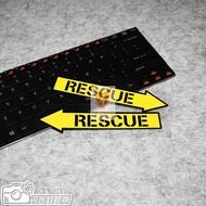 [jiaxin168] Rescue Removable Arrow Sticker HELLAFLUSH Reflective Stickers