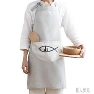 圍裙韓版時尚女男防水可愛廚房圍兜防油成人工作罩衣家用做飯圍腰 DJ3681『麗人雅苑』