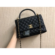 Chanel coco handle28cm 荔枝黑金
