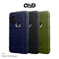 【愛瘋潮】99免運 手機套 軟殼 QinD Moto One Hyper 戰術護盾保護套 背蓋式 手機殼 鏡頭加高