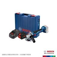 【BOSCH 博世】18V超核芯鋰電免碳刷砂輪機套裝 GWS 18V-10 8.0Ah