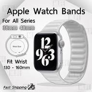 สายนาฬิกา Apple Watch 40mm 38mm สายหนัง ทุกซีรีย์ ตัวล็อค แม่เหล็ก – สาย นาฬิกา Leather Link Band Compatible with Apple Watch Band iWatch Series 6 5 SE 4 3 2 1 Strap
