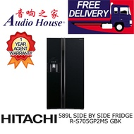 HITACHI R-S705GP2MS-GBK SIDE BY SIDE FRIDGE ***1 YEAR HITACHI WARRANTY***