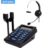 VoiceJoy Home/Office Telephone with RJ9 Headset Business Phone Headset RJ9 Plug Headset Phone Dial Pad for Call Center