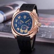 2018運動新款手錶 韓版法拉利賽車系列石英手錶男士三針防水塑膠帶休閒手錶 矽膠 防水 卡西歐 日內瓦 GT