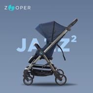 【Zooper】Jazz2 時尚全能小戰車可平躺可登機秒收推車-紺藍
