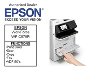 [Singapore warranty]  Epson WorkForce Pro WF-C579R Duplex All in One Inkjet Printer  Print Color Scan Copy Fax ADF 50s  4.3  Color Touchscreen **Free $20 NTUC voucher till 25th Jun 2020 , WALK-IN-REDEMPTION by 31/07/2020 at Epson Se WF C 579R C579 R C579R