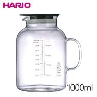 【日本HARIO】耐熱玻璃醃漬罐1000ml-黑