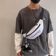 时尚品牌反光chet bag男士'meenger bag时尚leiure双肩包tudent port wait bag男士'Cro MMGE