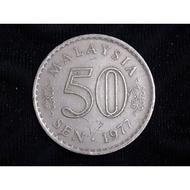 1977  MALAYSIA Parliament 50sen VF coin